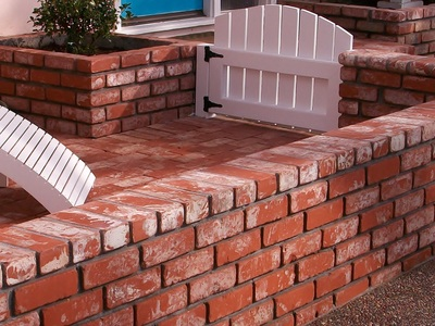 Brick Planter, Walkway and Retainer Wall