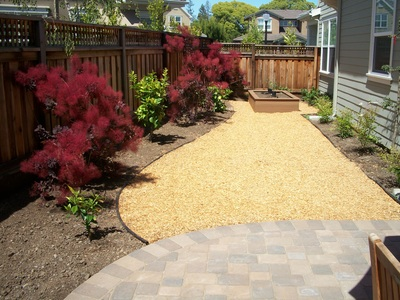 Wood Chips Walkway