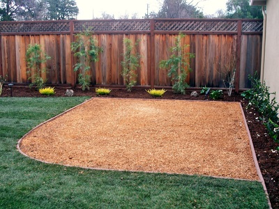 Wood Chips and Synthetic Grass